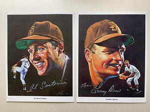"(8) Different Rare1969 San Diego Padre Nicholas Volpe 8.5 x 11.5"" EX+ Portraits."
