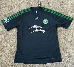 NEW Adidas Portland Timbers BLACK FORMOTION MLS Soccer Jersey Men's Size XL