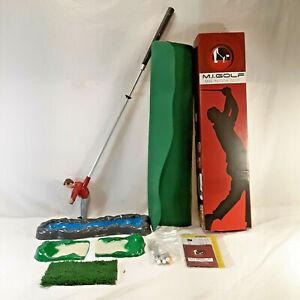 M.I. Golf Mini Indoor Golf Game Putting Green Mini Golf Coarse Shotmaker EUC
