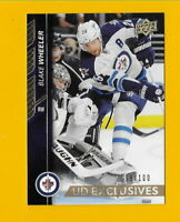 31702 BLAKE WHEELER 2015/16 UPPER DECK EXCLUSIVES #192 JETS #98/100  BK$15🏒