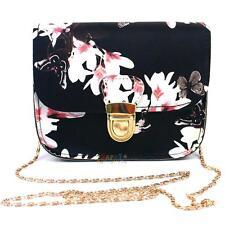 Women Handbag Floral Shoulder Bag Leather Messenger Hobo Bag Satchel Chain Purse