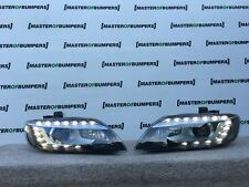 AUDI Q7 2009-2015 LED XENON HEADLIGHTS PAIR COMPLETE WITH CAGE GENUINE