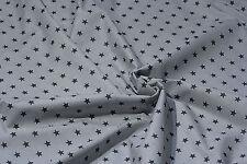 100 % COTTON FABRIC HIGH QUALITY Grey, White Stars, Polka, ZigZag,Stripe,PATTERN