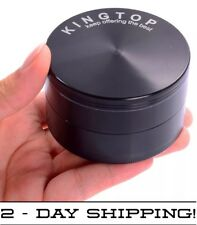 3.0 Inch Extra Large Tobacco Grinder Sharp Metal Spice/Herb Crusher - Black