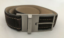 "Bally Brown Suede Men's 36"" Belt from the 90's"
