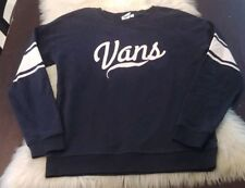 28123c05750d08 Vans Off The Wall Women s Black Pullover Sweater Size Small