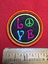 Fun HIPPIE Patch PEACE & LOVE Dazzle Your Jackets & Bags With Cheap Patches 76X2