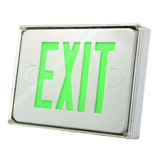 Etrolighting Led Exit Sign Emergency Light Green Letters Ceiling Amp Wall Mounting