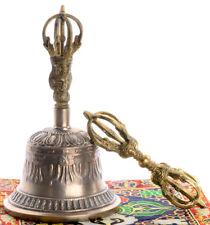 Ghanta - tibetische Glocke (21 cm) im Set mit Dorje und Hülle Handarbeit