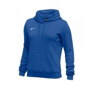 Nike Womens Club Fleece Pullover Hoodie Size Medium 836123 393 Royal Blue NWT