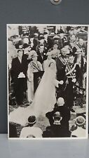 1937 Vintage Wedding Postcard Princess Juliana & Bernhard of the Netherlands