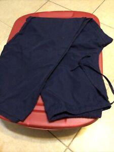 SB Unisex Scrub Pants Large Navy Blue Poly Cotton Men Woman's  Large Medical