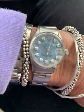 Rolex Ladies Datejust 6916 Blue Mother of Pearl Diamond Dial Stainless Steel