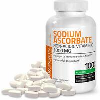 Bronson Vitamin C (Non Acidic) Sodium Ascorbate, Gentle, 100 Tablets