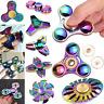 New Rainbow EDC Hand Fidget Spinner Zinc Alloy Desk Toys Focus ADHD Autism