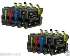 10 CARTOUCHES D'Encre Compatible avec Brother DCP135C DCP130C MFC240C DCP150C