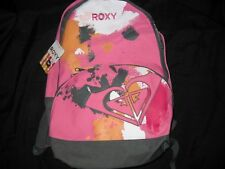 NEW Girls ROXY Pink Grey School BACKPACK Book Bag NWT Back Pack Tote College