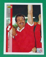 FOOTBALL CARD UPPER DECK 1994 USA 94 GEORGES BREGY SUISSE HELVETIA SCHWEIZ