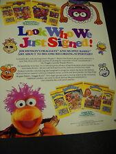 Fraggles & Muppet Babies Jim Henson 1987 Promo Ad mint