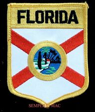 FLORIDA STATE FLAG EMBROIDERED IRON ON PATCH FL SHIELD USA SUNSHINE STATE WOW