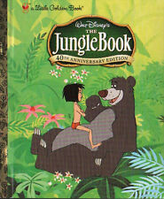 THE JUNGLE BOOK Little Golden Book DISNEY Baloo WOLVES Animals MOWGLI
