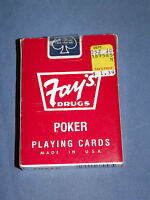 VINTAGE FAY'S DRUGS LIVERPOOL NY UNOPENED DECK OF PLAYING CARDS