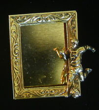 Soccer Player Photo Frame Pin Foot Ball 24 Karat Gold Plate You Personalize