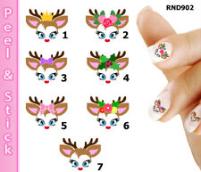 Reindeer Christmas Nail Art Decal Sticker Set (Peel and Stick) RND902
