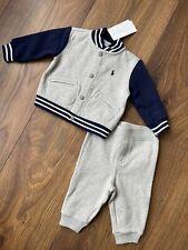 New Ralph Lauren Baby Boys 2pcs Outfit Set Tracksuit Size 3-6 Months