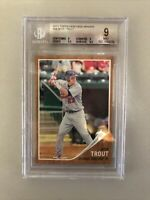 Mike Trout BGS 9 2011 Topps Heritage Minors Rookie Card RC Subs 9.5,9.5,9,9