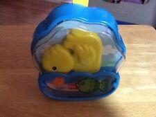 Vintage Fisher Price Duck Windup Musical Blue  Crib Toy 1995 Quacks Strap Works