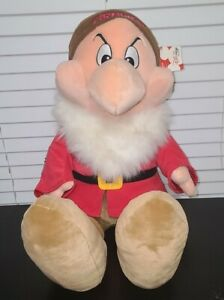 """DISNEY STORE Snow White & the Seven Dwarfs Grumpy Plush Stuffed 25"""" Large Size"""