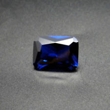 Unheated 7.98ct Natural Mined Blue Sapphire Emerald Cut 10x12mm VVS Loose Gems