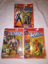 Lot of 3 Marvel Comics Action Figures: Robot Wolverine (Albert)-Storm-Kylun NIB!