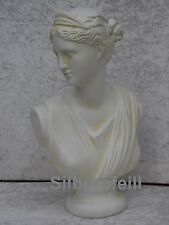 Büste Diana Frauenbüste Kopf Figur Frau Stuckgips Säule Statue Deko Crem 2018