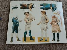 Paper Doll Postcards New - Lot of 6