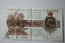 GENUINE ENGLISH GEORGE V £1 FISHER BANKNOTE