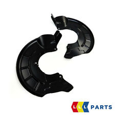 NEW GENUINE AUDI A2 2000-2005 FRONT DISC BRAKES SPLASH SHIELDS PAIR SET N/S+O/S