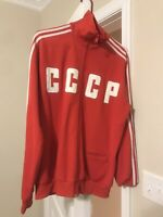 ADIDAS ORIGINALS RUSSIA TRACK TOP RED Size RETRO USSR CCCP