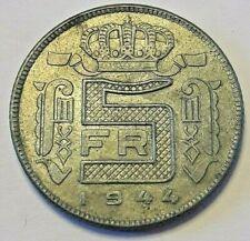 5 Francs Leopold III 1941 <<=>> 1945 RAU zink/zinc  5 Frank Belgique Belgïe