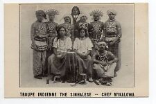 LE CIRQUE & théme ARTISTES Spectacle Troupe indienne THE SINHALESE chef MYKALOWA