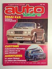 AUTO LOISIRS N°38 MAI 1982 CUSTOMS - SUBARU 4X4 - GOLF KAMEI