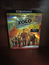 Solo, A Star Wars Story, (4K Ultra HD, Blu-ray,+Digital, 2018) Brand New!!!