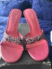 Women's Pink High Sandal With Pink Diamonds Size 7 Pied a Terre