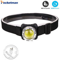 50000LM COB LED Headlamp USB Rechargeable Headlight Fishing Lamp Head Torch