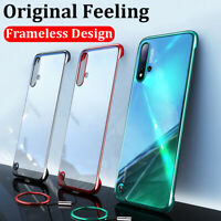 For Huawei P30P P30 P20 Luxury Frameless Ring Plating Silm Hard Back Case Cover