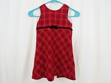 GAP OLD NAVY RED PLAID SHIRRED DRESS FOR TODDLER GIRLS NWT 3T 4T N350 NNN