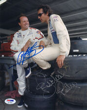 A.J. FOYT & RICHARD PETTY DUAL SIGNED AUTOGRAPHED 8x10 PHOTO VERY RARE PSA/DNA
