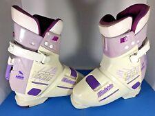 Vintage Raichle 277 Womens Ski Boots Size 7 US White Purple Italy Made 274MM