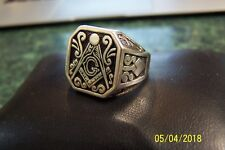 Masonic Ring - .925 Sterling Silver - New